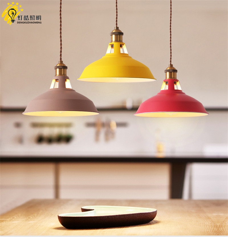 The Nordic contracted and contemporary restaurant droplight Milk tea shop cafe bar bedside marca dragon pot droplight contemporary and contracted restaurant droplight aluminum pendant lamp