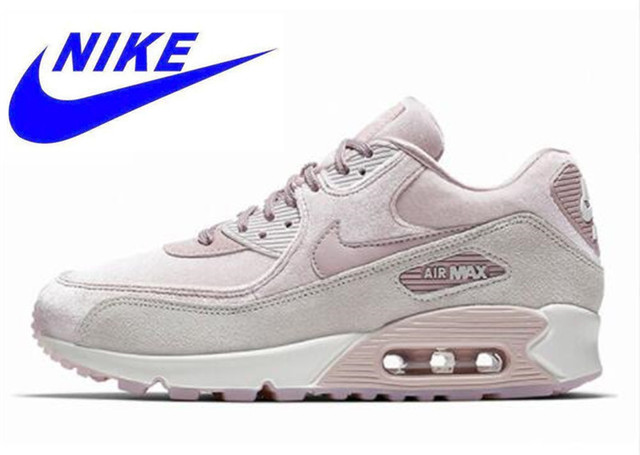 best website f0beb b23e8 NIKE AIR MAX 90 LX Women's Running Shoes, Pink, Shock Resistant Non-slip  Absorbing Abrasion Breathable Lightweight 898512 600