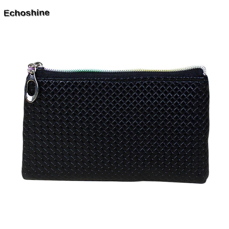 2016 Women Fashion Leather Wallet Zipper Clutch Purse Lady Long Handbag Bag Wholesale A2500