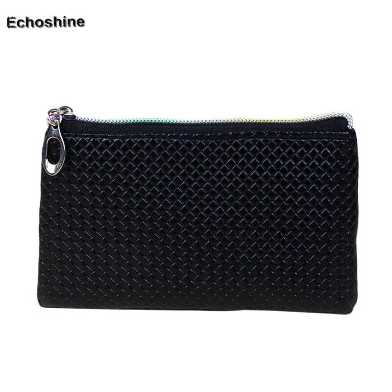 2016 Women Fashion Leather Wallet Zipper Clutch Purse Lady Long Handbag Bag Wholesale A2500