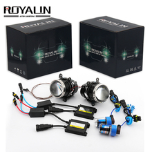 ROYALIN H11 Fog Light Lens Kit HID Bi-Xenon Projector for Ford Mazada Mitsubishi Pajero Subaru Citroen Dacia Renault Car Styling