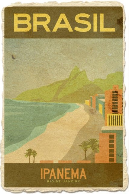 Ipanema Beach, Brazil Art Travel Landscape Vintage Retro Poster Decorative Wall Stickers Posters Bar Home Decor Gift