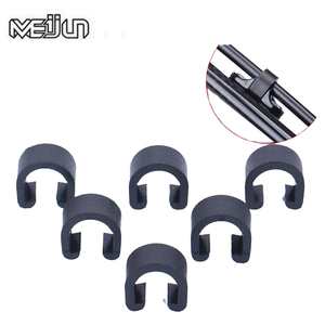 30pcs MEIJUN Bike Disc Brake Cable Sets Pipe Line Deduction Transmission Pipe C type Buckle Snap Clamp(China)