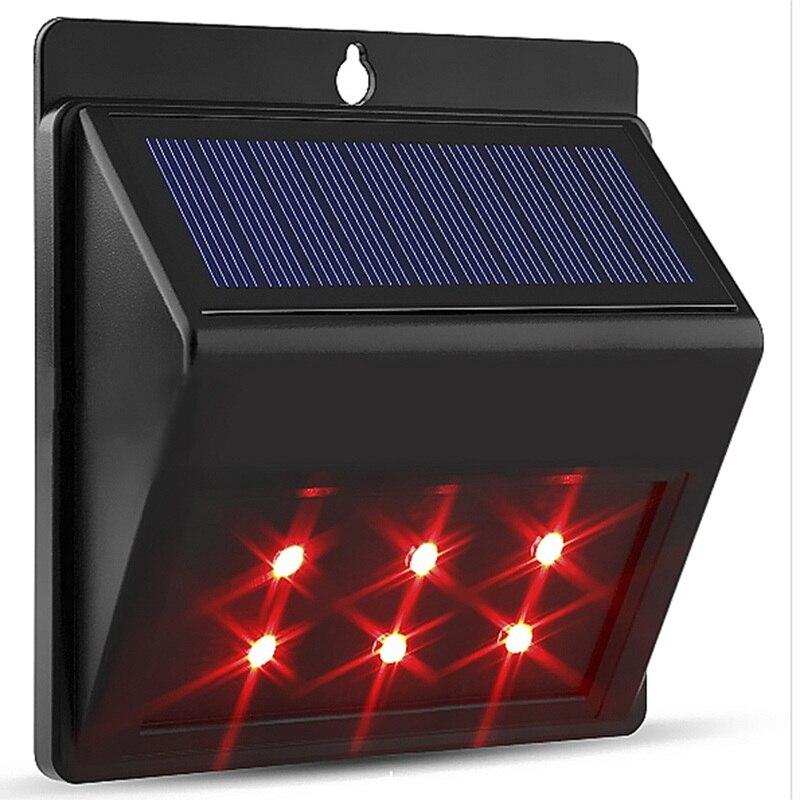 4/6LED Solar Light Solar Powered Garden Light Solar Animal Deterrence Lamp Sensor Animal Repeller Outdoor Fence Wall Lamp