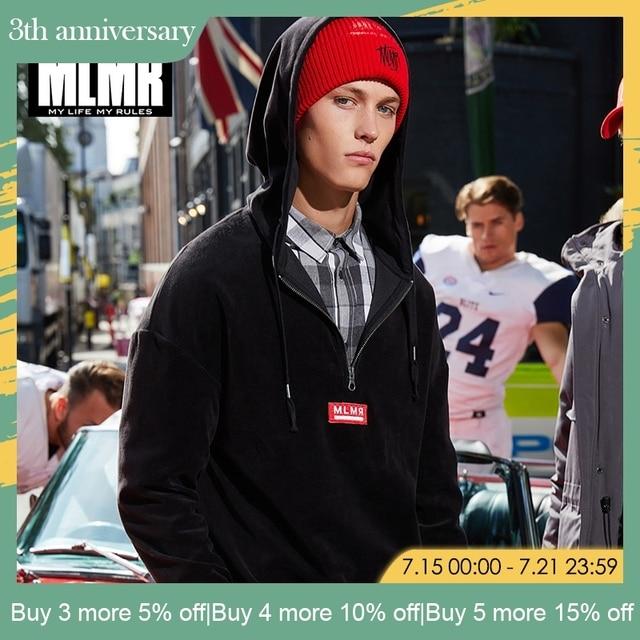 MLMR חדש לגמרי אופנה מזדמן רוכסן קישוט סלעית זיעה בסוודרים גברים הסווטשרט   218333544