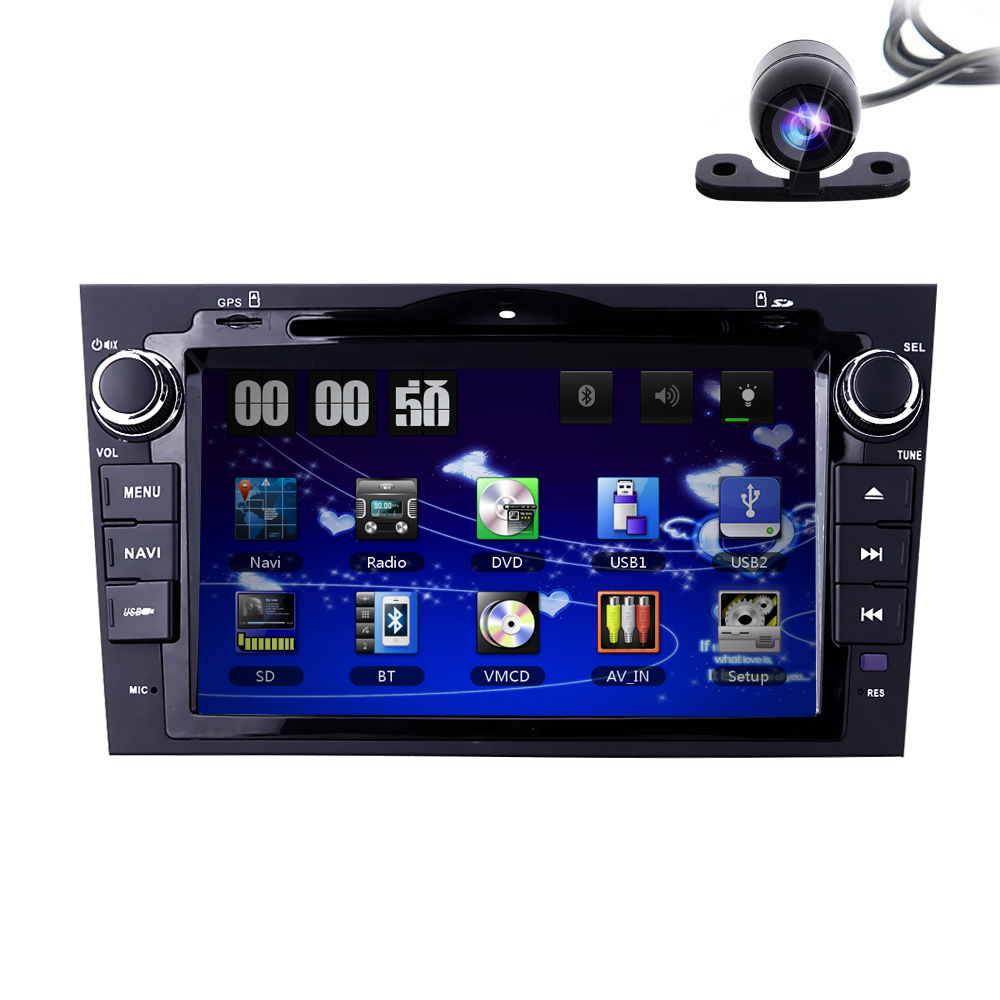 8 Inch 2 din car audio HD Touch Screen stereo DVD Player With GPS Navigation For Honda CRV 2007 ...