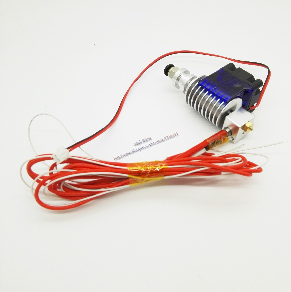 E3D V5 Hot End Full Kit 1.75mm 12V or 24V Bowden/RepRap 3d printer extruder parts accessories 0.2/0.3/0.4/0.5mm Nozzle