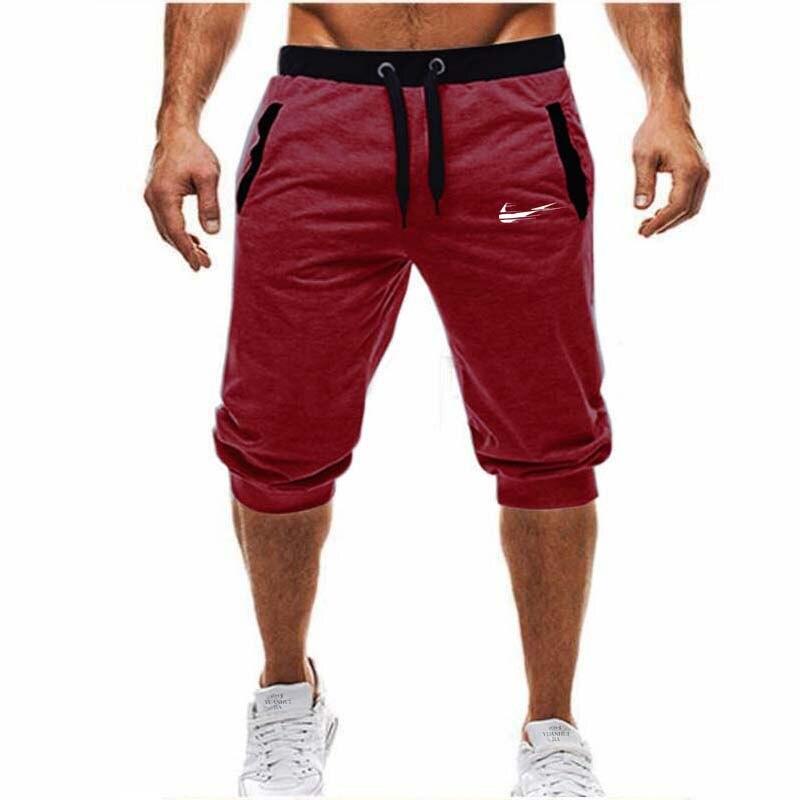 2018 nuevo de marca de verano hombre Jogger deportivo delgada pantalones  cortos hombres negro culturismo pantalones cortos Hombre Fitness gimnasios  ... 3ce7684459b2