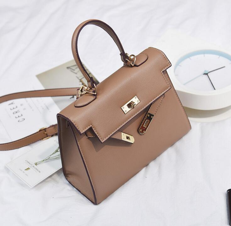 Business Classic Lock Brief Handbag Totes Women Shoulder Bag #2042 Fashion Woman Crossbody Bag Christmas Gift