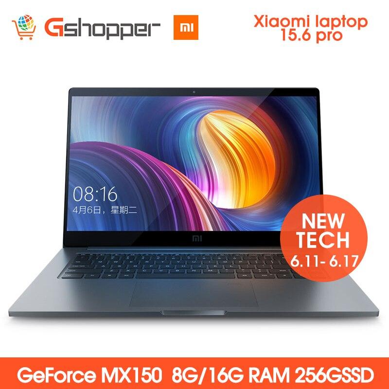 Xiao mi mi del taccuino del Computer portatile pro 15.6 I5/I7 intel CORE 8G/16g di RAM 256GB SSD DDR4 1920x1080 di Riconoscimento Delle Impronte Digitali Geforce MX150