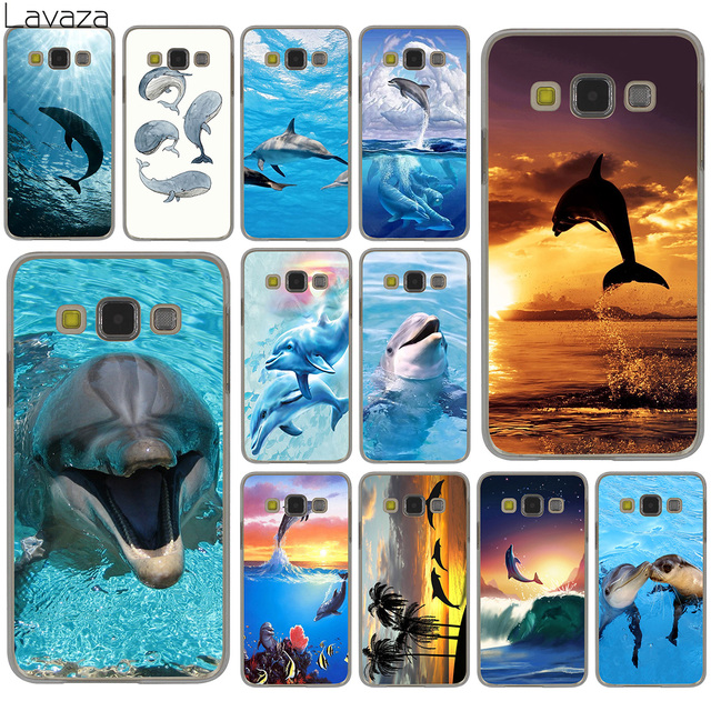 Lavaza Sunset And Jumping Dolphin ocean Hard Case for Samsung Galaxy S10 S10E S8 Plus S6 S7 Edge S9 Plus Phone Cover