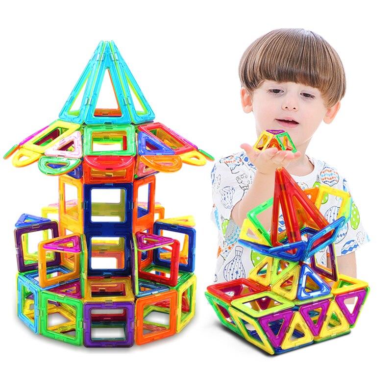 Jouets éducatifs magnétiques pour enfants bricolage bâtiment conception enfants outil d'enseignement néodyme terres rares aimants permanents 226 pièces