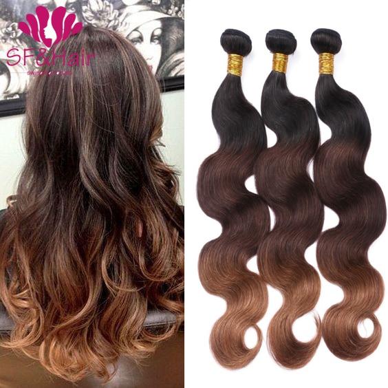 2017 New Arrival 8a Ombre Brazilian Hair T1b430 Virgin Human Hair