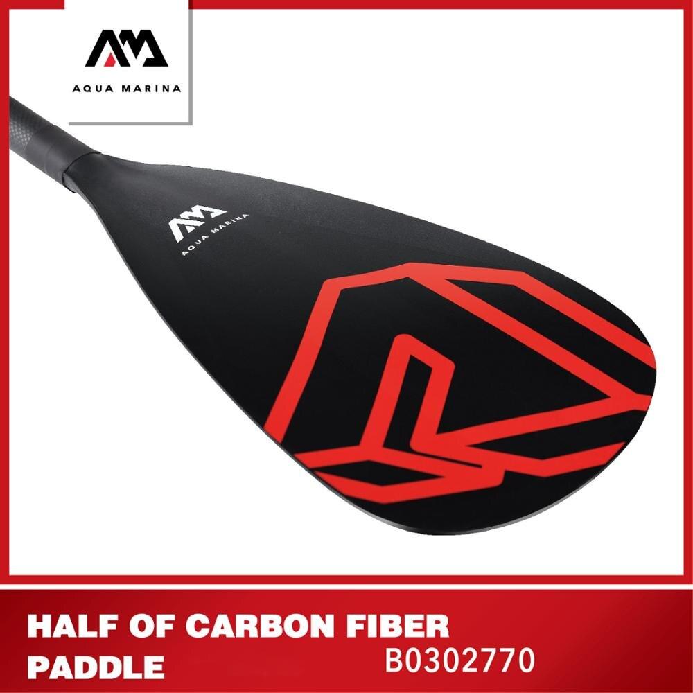 Аква-Марина доска весло карбоновое направляющее полууглеродное волокно весло для серфинга SUP стоящее весло для Серфинга весло для гонок до...