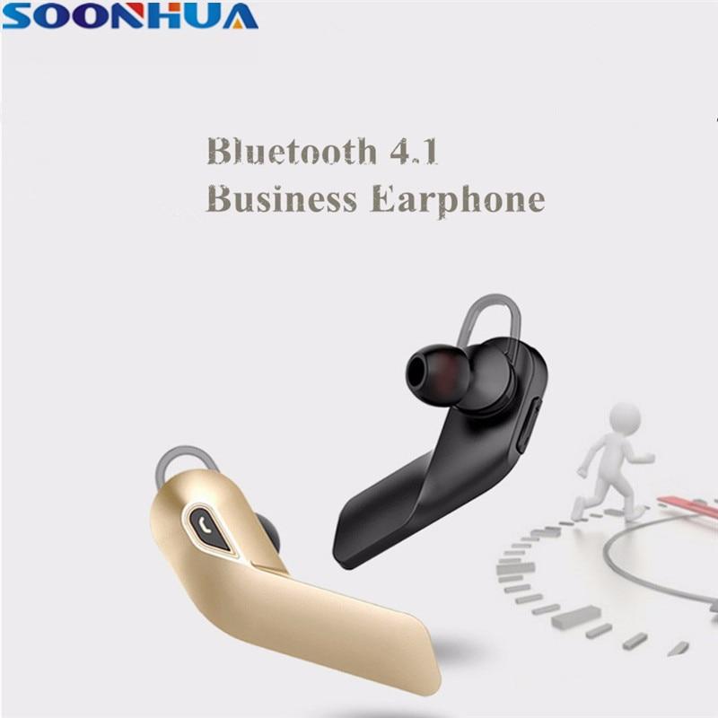 SOONHUA Business Wireless Bluetooth Earphone V4.1 Sweatproof Sport Headphone Super Bass Stereo HiFi Headphone With Handsfree Mic
