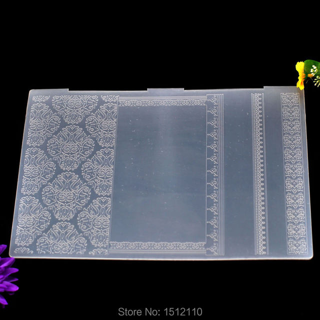 A4 size flower plastic embossing folder for scrapbook diy album a4 size flower plastic embossing folder for scrapbook diy album card tool plastic template 297x21cm pronofoot35fo Gallery