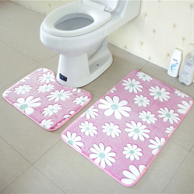 2 pz set di tappetini da bagno antiscivolo 45x50 cm e 50x80 cm/17.71x19.68in e 19.68x31.49in