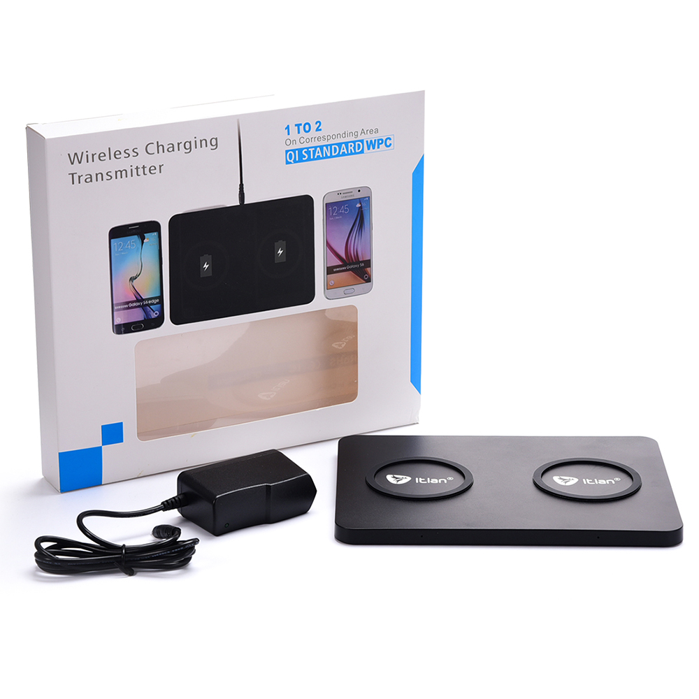1 to 2 Wireless Charger Dual Wireless Charging Dock Transmitter for Samsung font b Galaxy b
