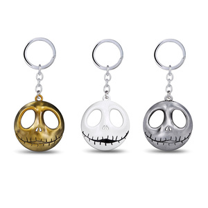 New Moive The Nightmare Before Christmas Keychain Mask Alloy Jack Skellington Key Ring Chain Men Car Women Bag Jewelry Chaveiro(China)