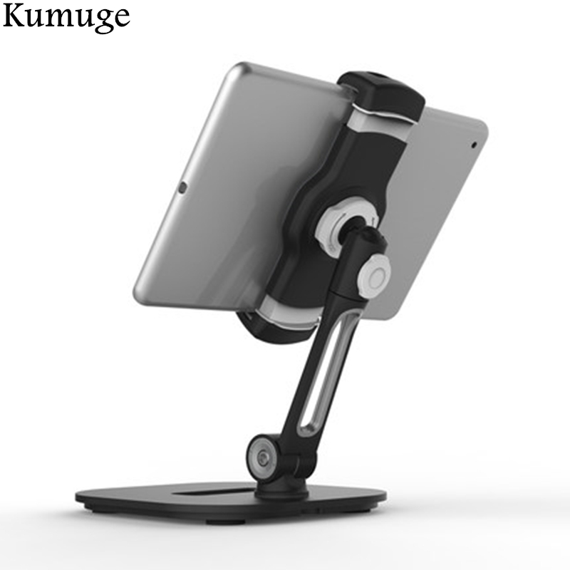 Universal 4.5-11 inch Tablet Holder Stand for iPad 9.7 Pro 10.5 inch Air 2/1 Mini Flexible Desk Tablet Mount Bracket for iPhone цена и фото
