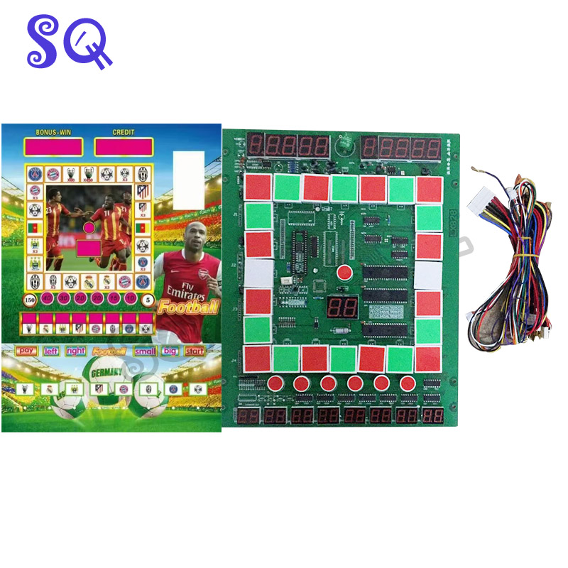 2 Set Football Mario Game PCB Board With Wiring harness for Casino Slot Game Board Arcade