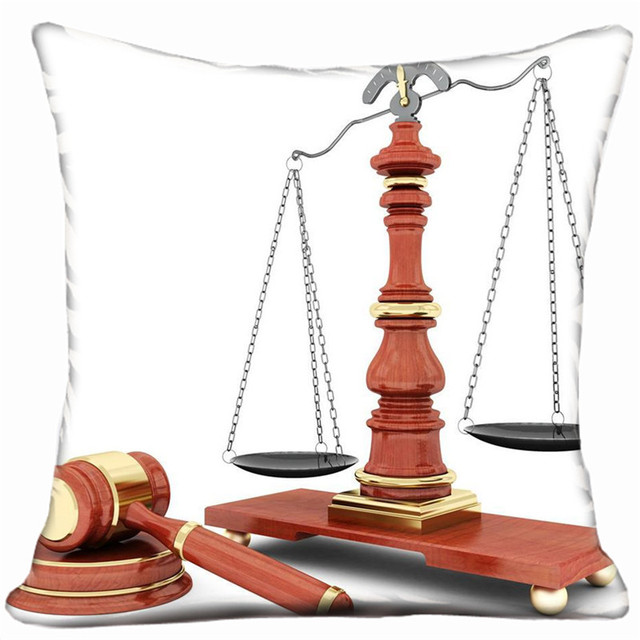 Balance scales and judges hammer pillow casein Cushion