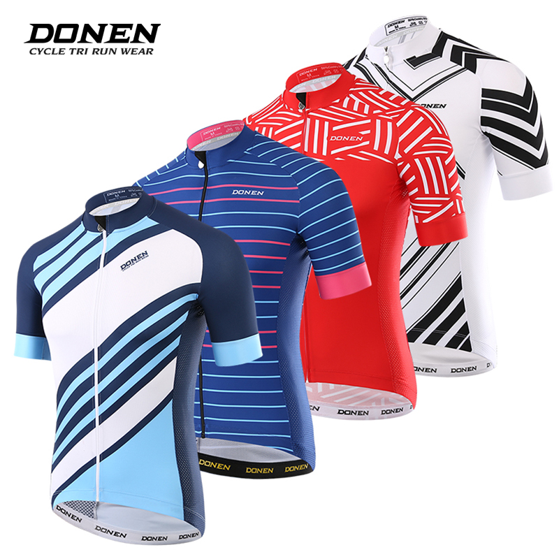 DONEN Summer Cycling Jersey Breathale Mountain Bike Clothing Quick Dry Racing MTB Bicycle Clothes Uniform Cycling