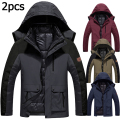 5XL 6XL Fashion Winter Jacket Men Thickening Warm Down Parka Coat Waterproof Jacket+Liner 2PCS Casual Brand Windbreaker Men/Male