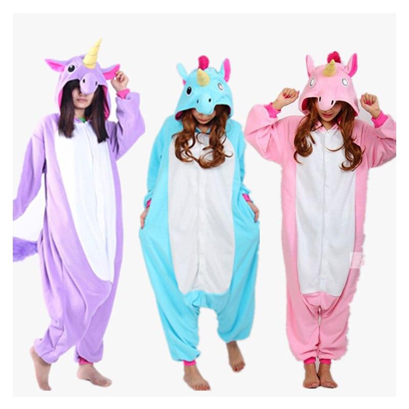 3b660284f8 Nueva Franela Unicornio de Dibujos Animados Cosplay Adulto Homewear Unisex  Para Adultos Animales Pijamas Mujeres Pijama 3 Colores Adultos Unicornio  pijamas ...