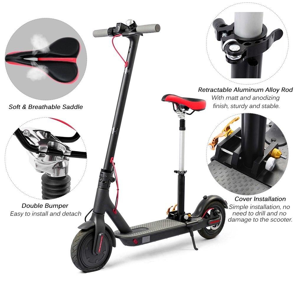foldable height adjustable saddle set for xiaomi electric. Black Bedroom Furniture Sets. Home Design Ideas