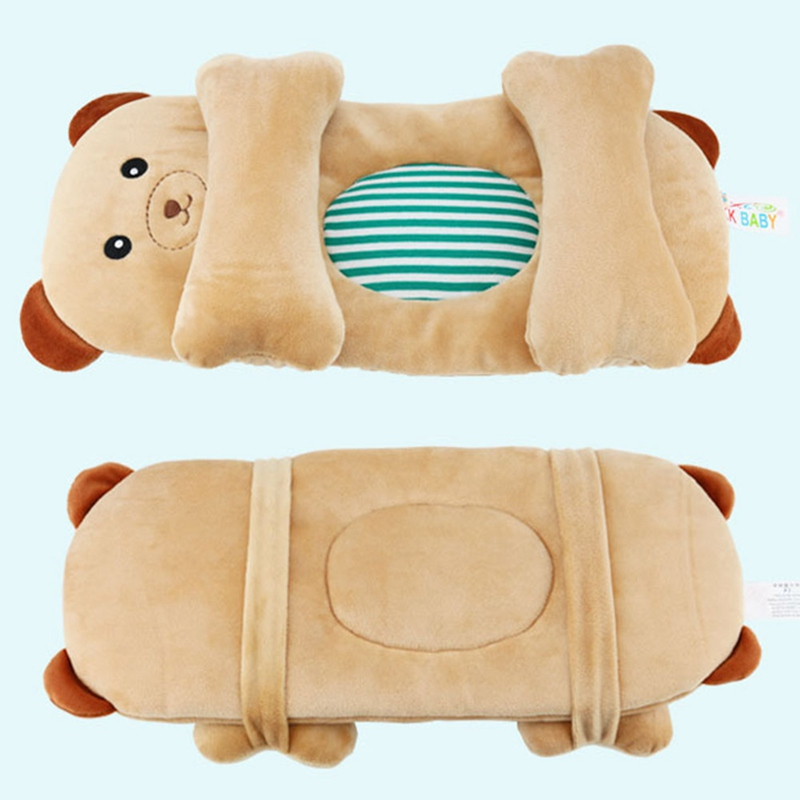 Comfortable Infant Anti Roll Baby Pillow Support Cushion To Prevent Flat Head And Neck