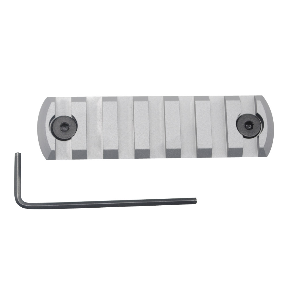 7 Slots Aluminum Alloy Anodized Grey Picatinny Rail