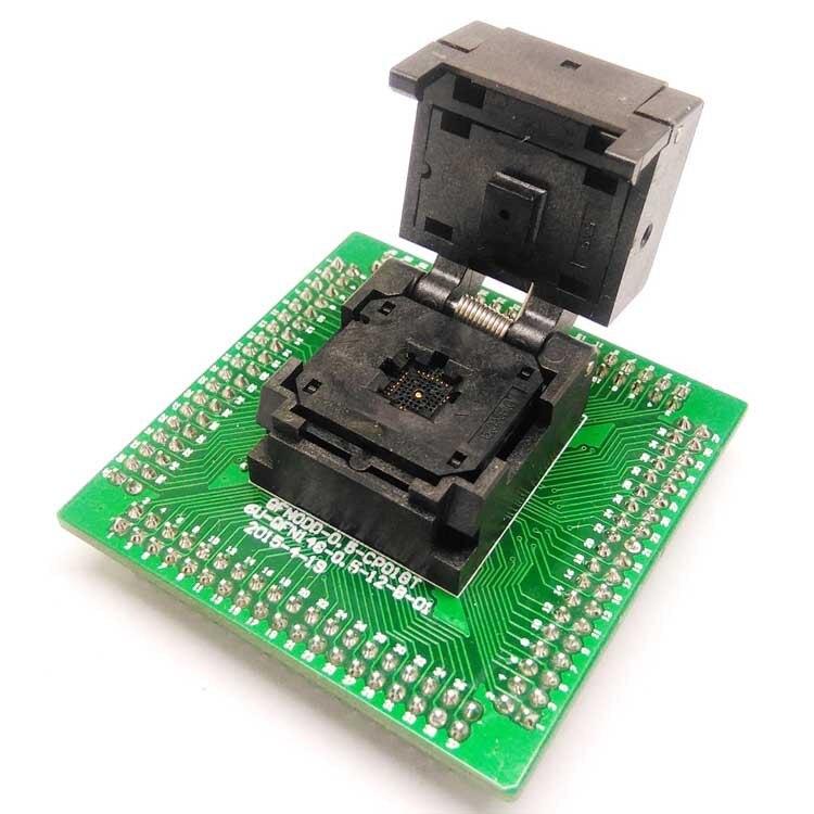 QFN28 MLF28 WLCSP28 à DIP28 Programmation Socket Pitch 0.5mm Taille 5x5mm IC550-0284-011-G À Clapet Test Socket ZIF adaptateur