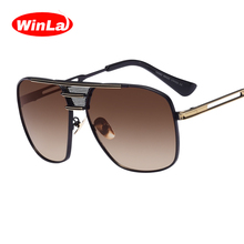 Winla Square Sunglasses High Quality Oversized Frame Goggle Summer Style Brand Designer Sun Glasses Oculos De Sol UV400 WL1006