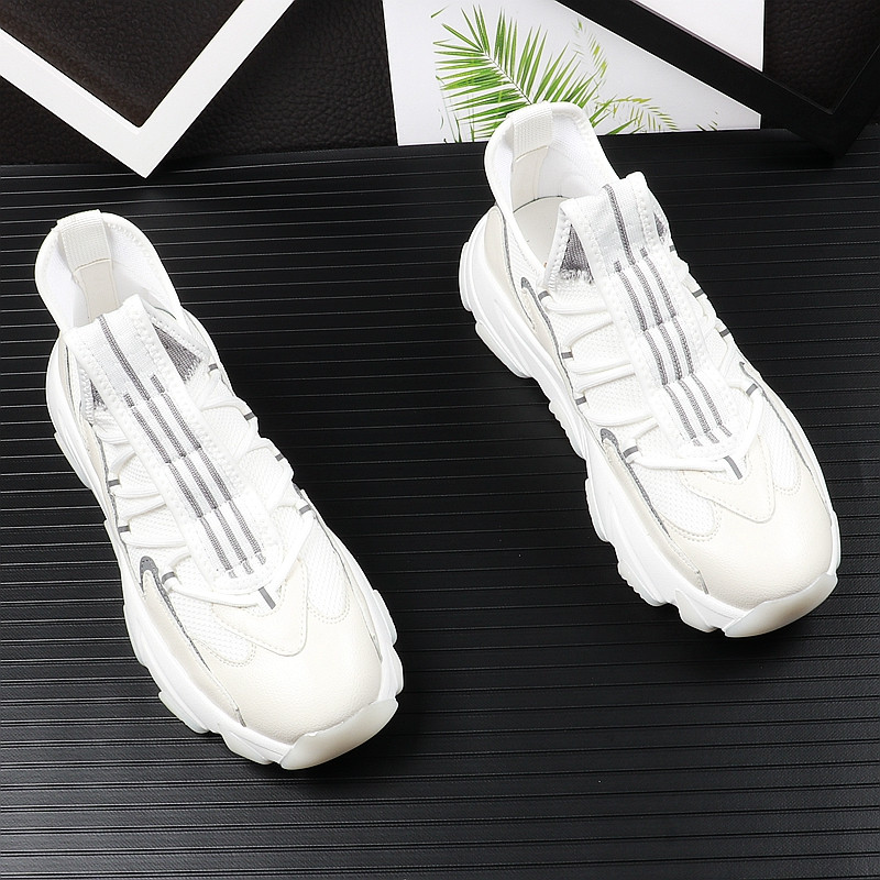 high quality men youth casual shoes thick Bottom mesh Breathable mixed color Platfrom Leisure Shoes For web celebrity 38-43 15