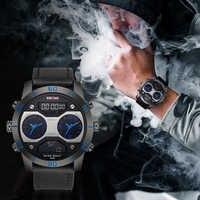 KADEMAN Men's Clock Sport Digital LED Waterproof Wrist Watch Luxury Men Analog Military Army Mens Dual Display watch Clock