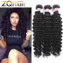 2016 Top Fashion Time-limited Ms Lula Hair Grace Raw 3 Unprocessed 7a Indian Remy Deep Wave Hair Bundles Wet And Virgin