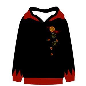 Image 5 - Touken ranbu 온라인 애니메이션 코스프레 가을/겨울 긴 소매 후드 티 셔츠 남성 & 여성 캐주얼 패션 루스 후드 코트