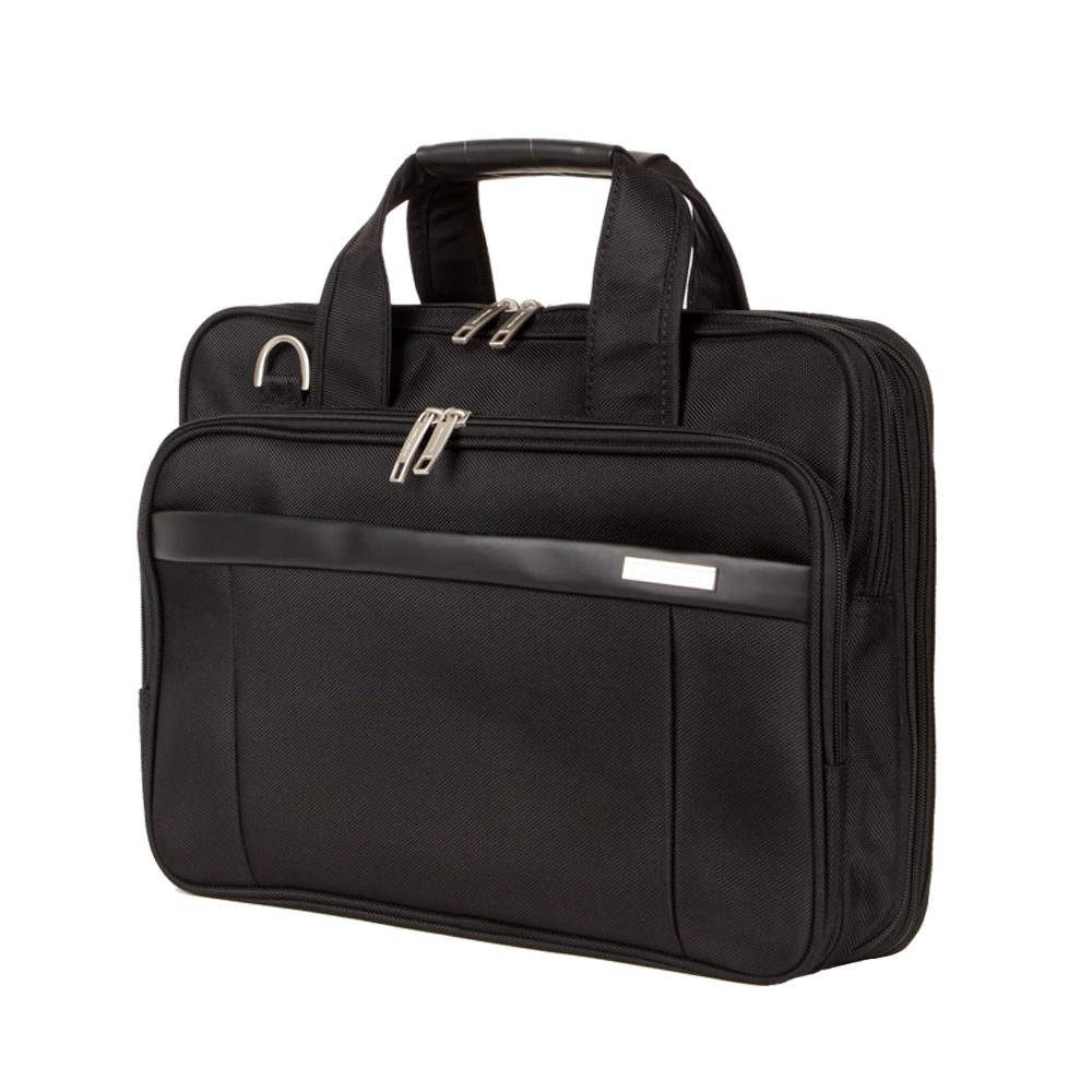 NEWCOM Briefcase Men 14 Inch Laptop Bags Male Business Bag Expandable Large Capacity Durable Black Business Travel Bags