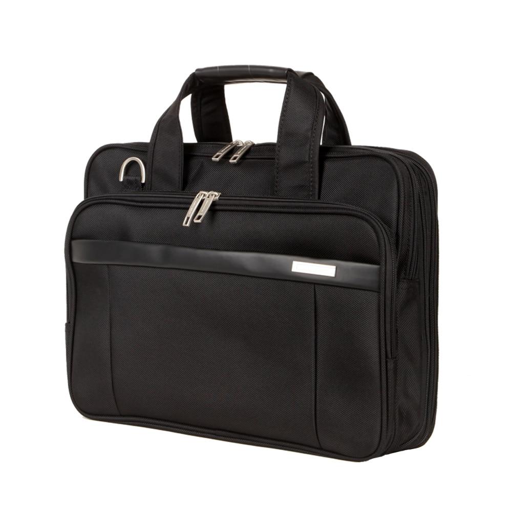 NEWCOM Briefcase Men 14 Inch Laptop Bags Male Business Bag Expandable Large Capacity Durable Black Business Travel Bags