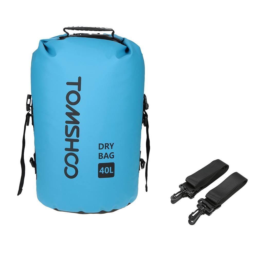 Tomshoo 40l Waterproof Swimming Bag Outdoor Rafting Dry Bag Sack Camping Cycling Backpack Storage Bag For Trave Boating Kayaking