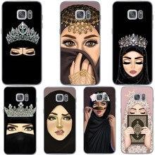 Роскошная женщина в хиджабе лицо Мусульманский Исламский грил глаза Силиконовый чехол для телефона для samsung S6 S7 Edeg S8 S9 Plus S10+ S10E Lite