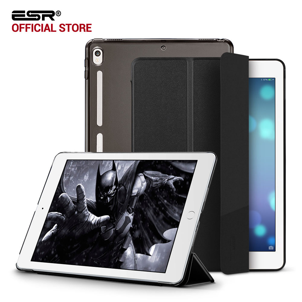Case for iPad Pro 10.5, ESR PU Leather Translucent Back Hybrid Soft Bumper Corner Slim Smart Cover case for iPad Pro 10.5 inches case for ipad pro 12 9 inch esr pu leather tri fold stand smart cover case with translucent back for ipad pro 12 9 2015 release
