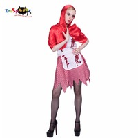 Femelle Anime Cosplay Dames Uniforme Cape Et Robe Petit Chaperon Rouge De Fête Sanglante Cosplay femmes Halloween Costume 2017