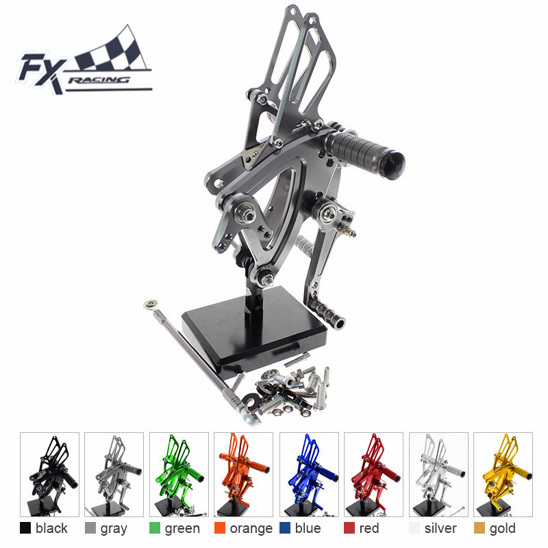 CNC Aluminum Motorcycle Foot Pegs Rest Footpegs Pedals Rearset For Honda CBR500R CBR400R CB500F CB400F 2013 - 2017 2014 2015 commande reculee cb 500
