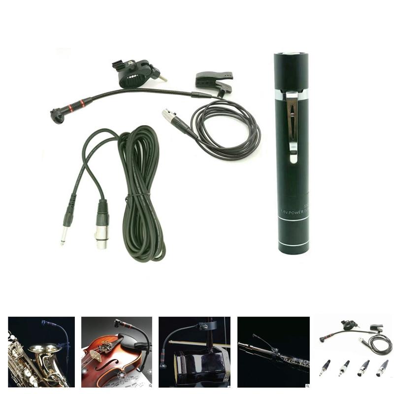 Microphone pour Saxophone avec alimentation, violon, erhu, flûte, gourde et ainsi de suite 4 types de prises au choix