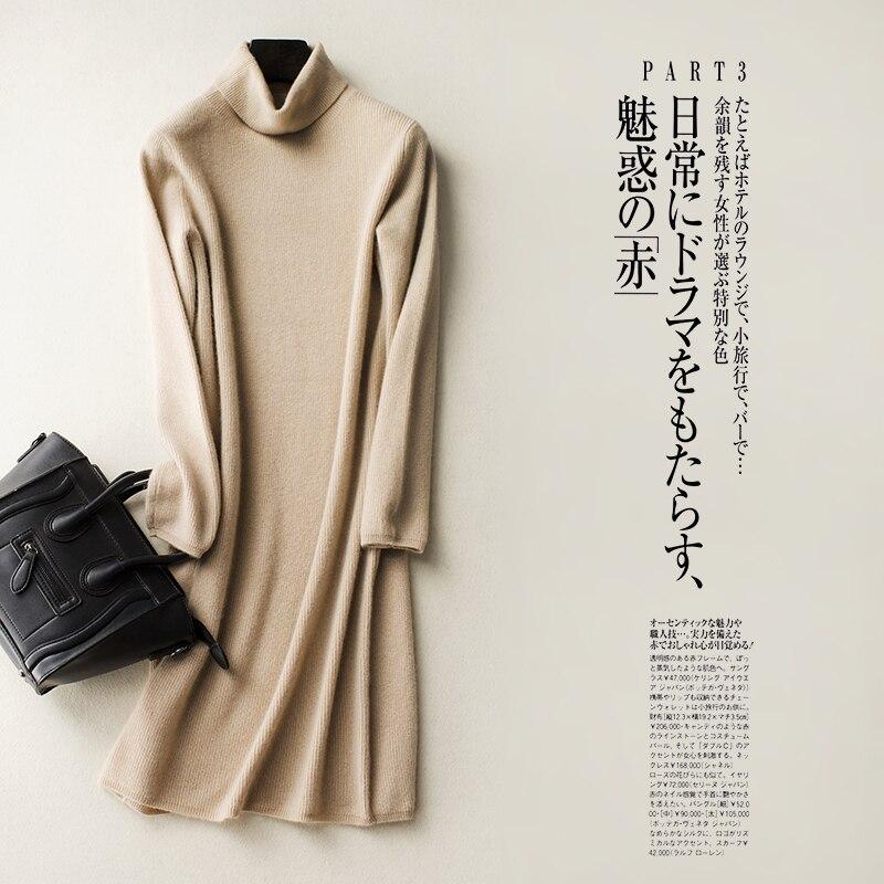 Hot Sale Longer Jumpers Women 100% Cashmere Sweater Lady Turtleneck Fashion Pullovers Ne ...