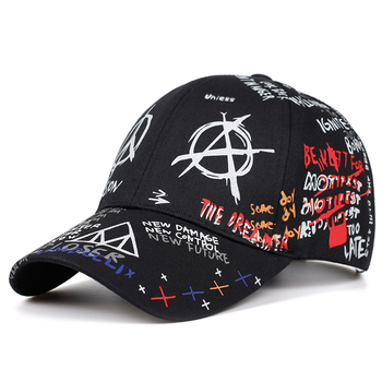 2019 new graffiti printing baseball cap 100%cotton fashion casual hat men and women adjustable sun caps hip hop dad hats