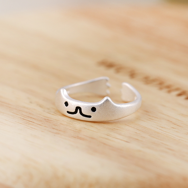 Cat Rings for Women Adjustable Vintage