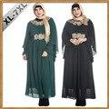 XL-7XL Extra Grande Tamanho Mulheres Abaya Jilbab Roupa Islâmica Árabe Muçulmano Vestido Femme Robe Musulmane Tradicional Roupas